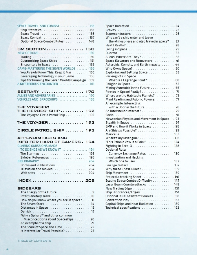 The Table of Contents for the Setting Guide. Lots of awesome content for you!
