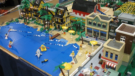 Book of sustainable development in a LEGO city