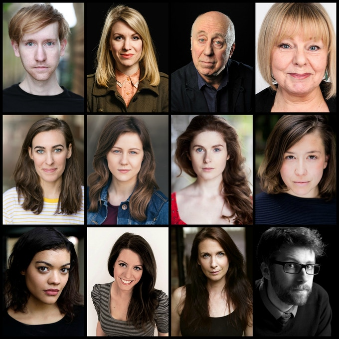 L To R: Chris Mayo, Rachel Parris, Norman Lovett, Amanda Reed, Emma Tansley, Holly Mallett, Evelyn Lockley, Megan Smith, Carla Harrison-Hodge, Hannah Warman, Jenny Walters & Scott Kingsnorth