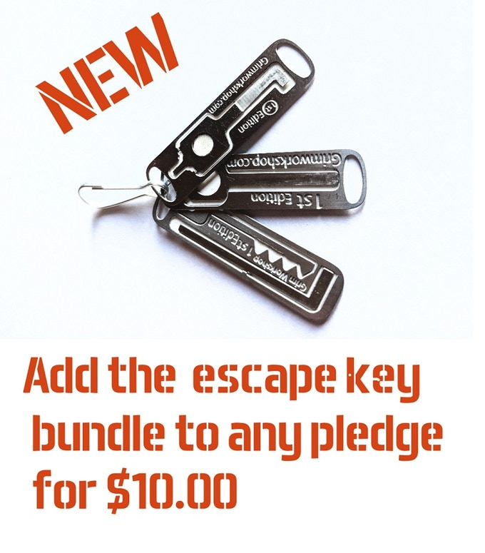 Our new Escape Key bundle has a handcuff key, handcuff shim, and a second style of lockpick in it.