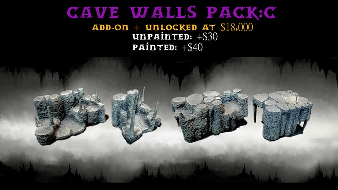 Cave Walls Pack:C contains two size 3 wall risers