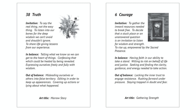 Sample booklet pages