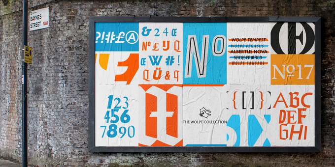 Poster promoting the new Wolpe Collection from Monotype. (Image courtesy Monotype.)