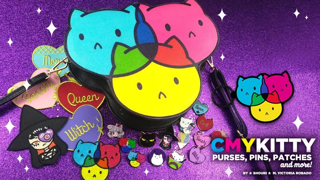 CMYKitty Purse, Pins, Patches and more! Sassy Kitty Pins project video thumbnail
