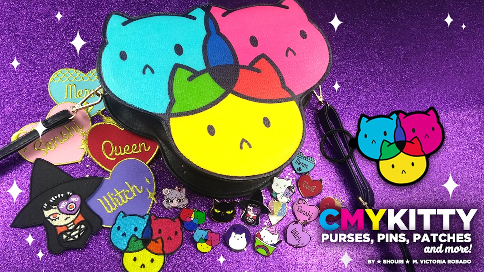 Sassy Kitty Pins is expanding its line of cute cat merch! Help me make my CMYKitty dreams a reality and unlock more designs!Purses, coinbags, enamel pins, lanyards, keychains, bag tags, tote bags, and t-shirts were made possible thanks to this campaign!