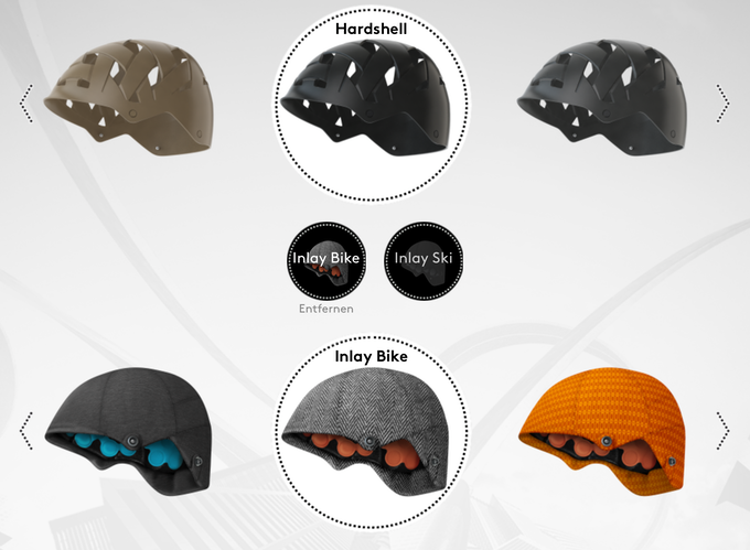 individualise your helmet - pick and chose color combinations