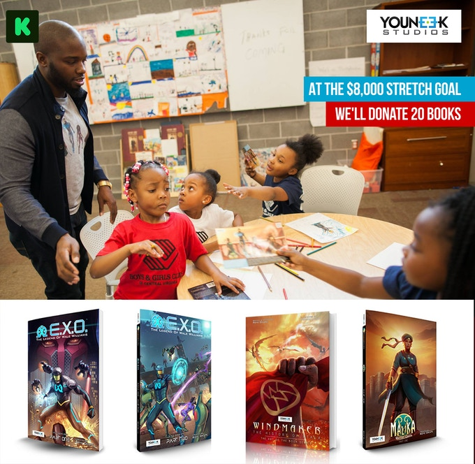 At $8,000 We'll be donating 20 books to a local Boy's & Girls Club.