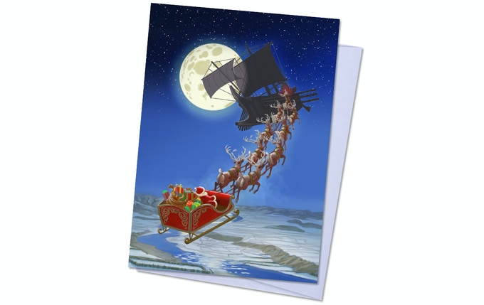 Dreamlands Pack 2, Card 4 - (Santa vs.) The Black Galley