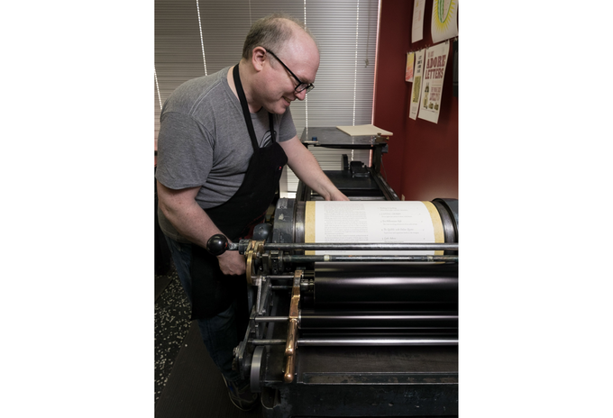 Glenn on press with his book. (Photo: ©2017 Jeff Carlson.)