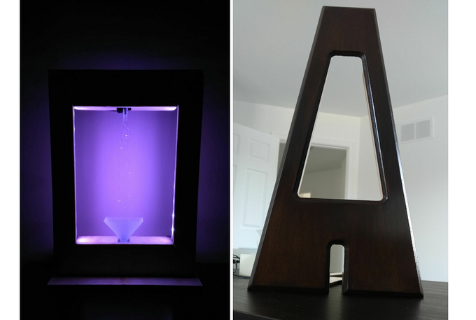 anti gravity fountain lamp
