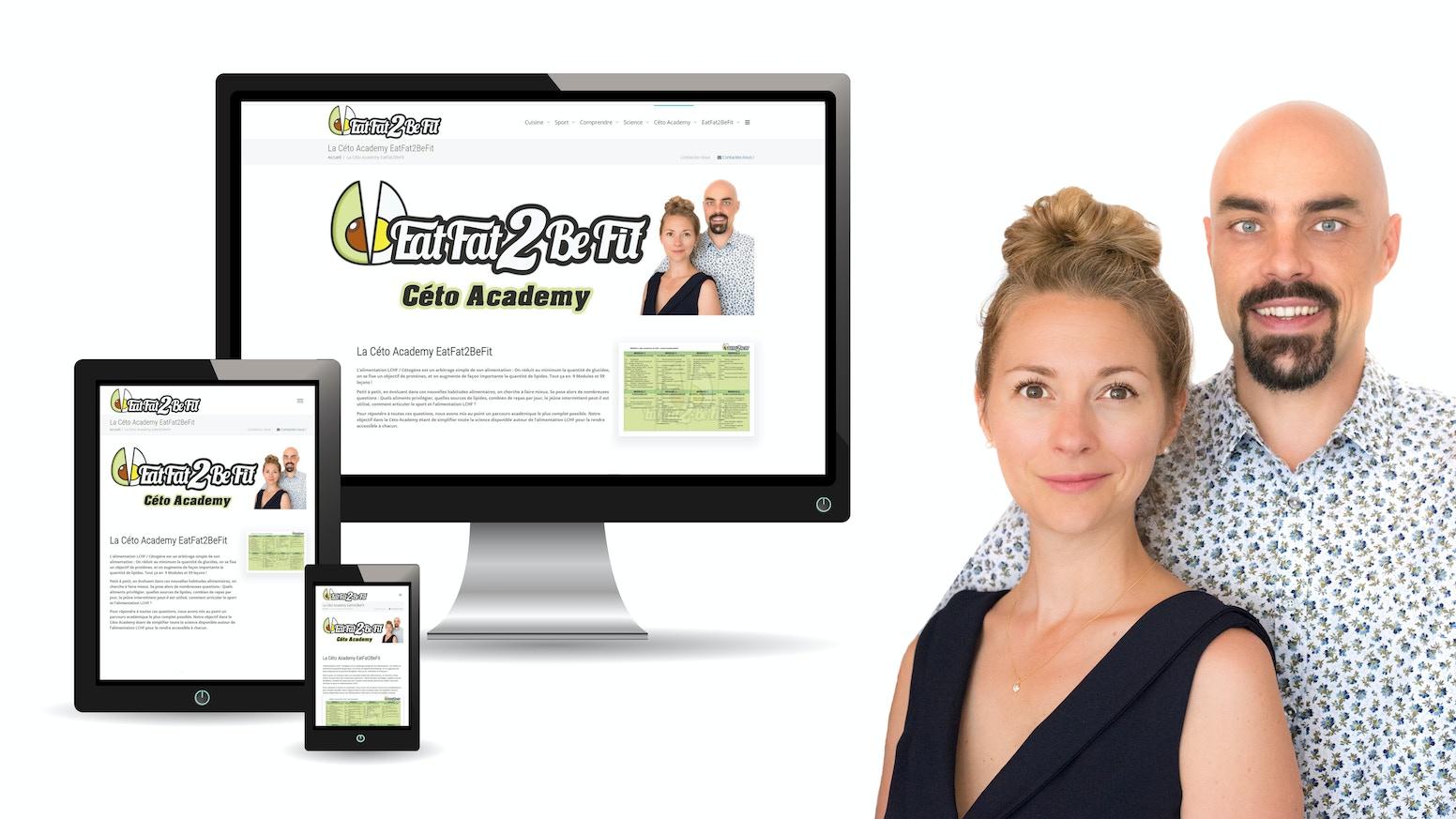 Devenez membre du site internet #LCHF made in France, découvrez son parcours pédagogique unique et rejoignez la communauté EatFat2BeFit