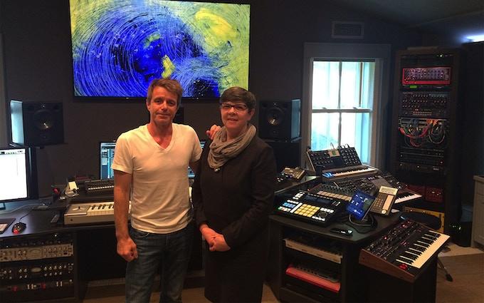 Lesley Manning & Harry Gregson-Williams in his LA studio