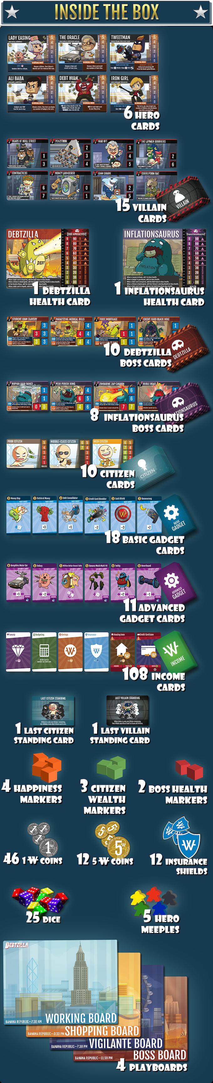 Debtzilla | Secret Identity Superhero Board Game by Capital