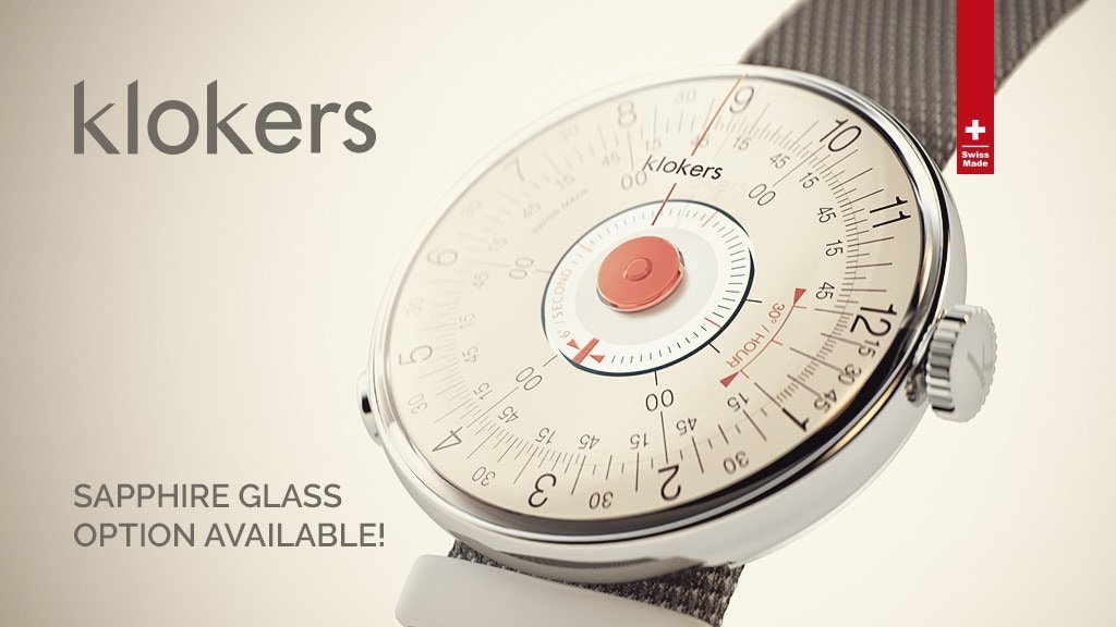 KLOK-08: 60s-inspired customizable watch by klokers project video thumbnail