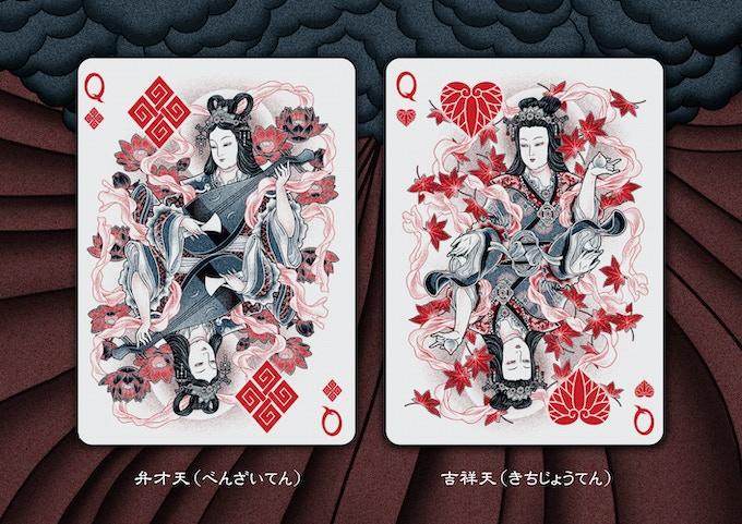 Benzaiten (弁才天) and Kisshōten (吉祥天)