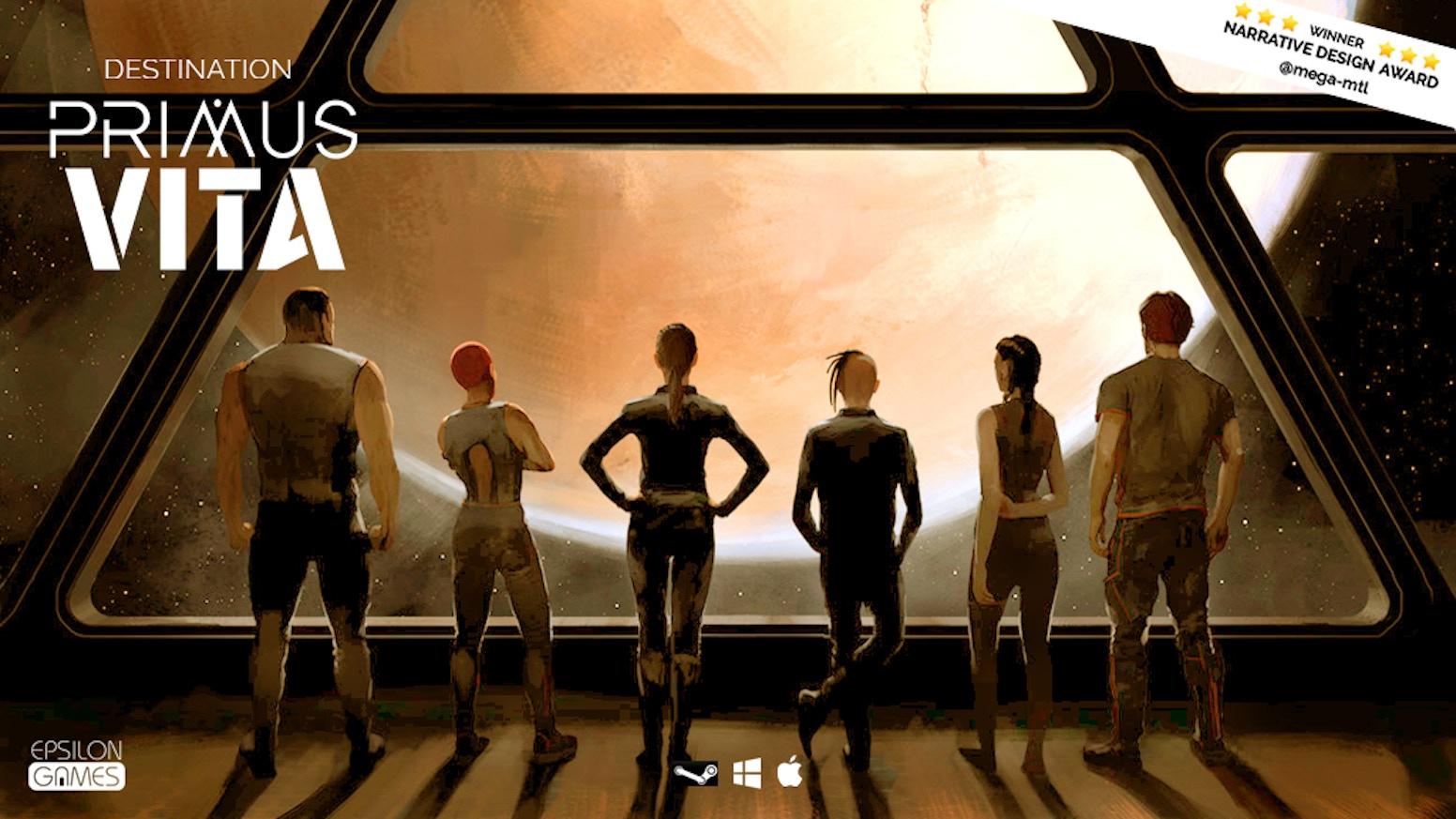 Destination Primus Vita is a science fiction, episodic first-person, narrative puzzle game.