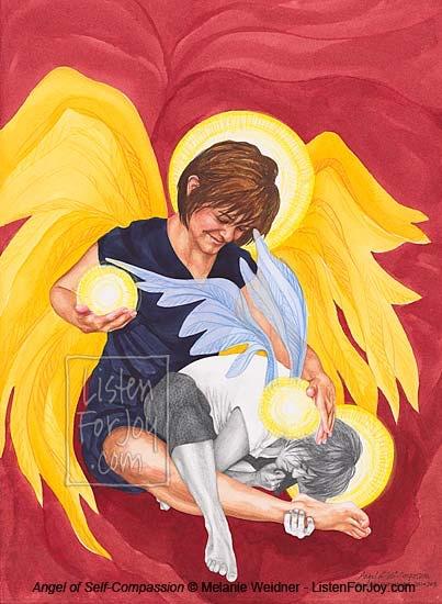 Angel of Self-Compassion original painting