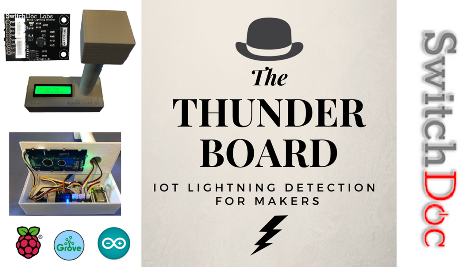 The Thunder Board Iot Lightning Detection For Makers By Switchdoc How To Build Rain Detector Detect Lighting On Your Raspberry Pi Or Arduino System Diy