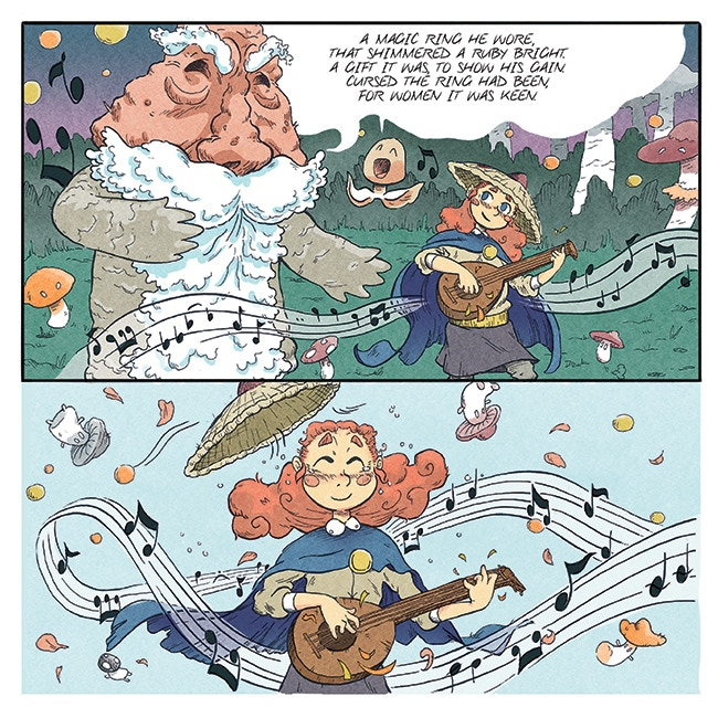 "from ""Mushroom Bard"" by Anthony Biondi & Sam Keating"
