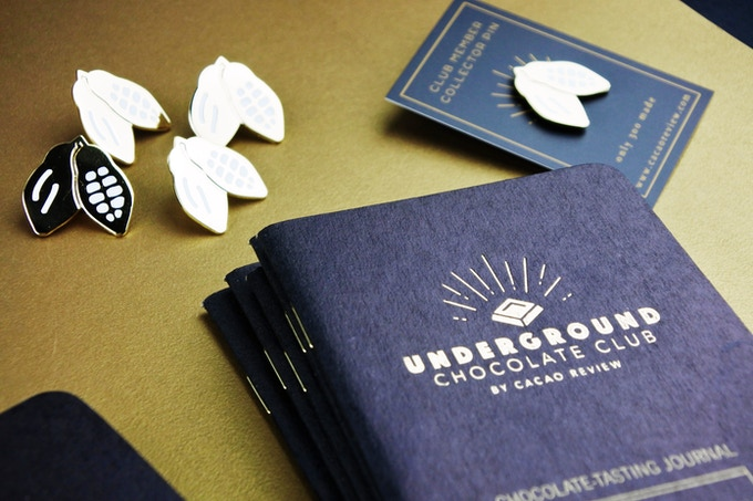 Cacao Pod Pin + Tasting Book