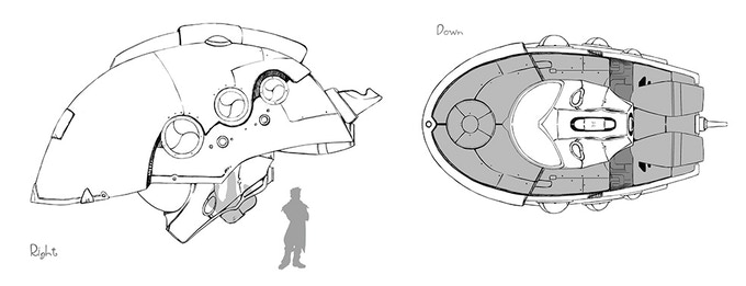 Goliath's pirate spaceship concept