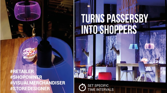 POVLAMP can turn any passerby into a shopper.
