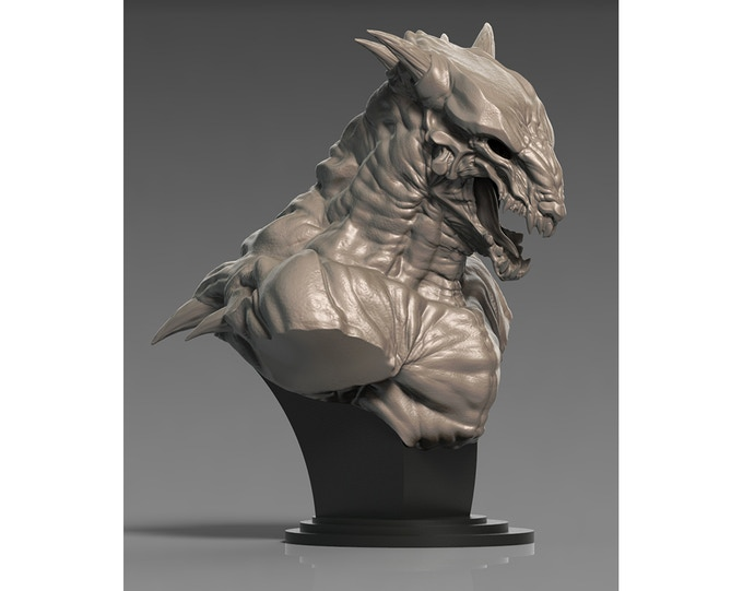 Vucari bust sculpture by Paul Harding (Final product color may vary)