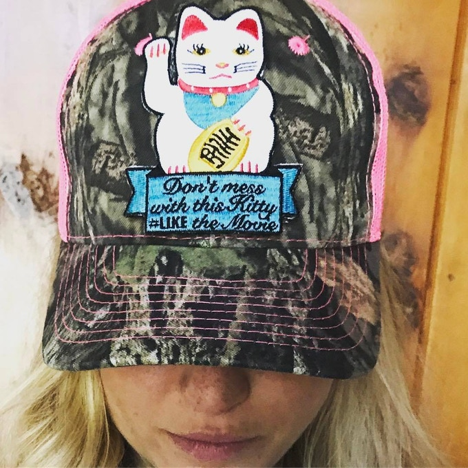 Kitty Trucker cap for Gents and Ladies ( adjustable)