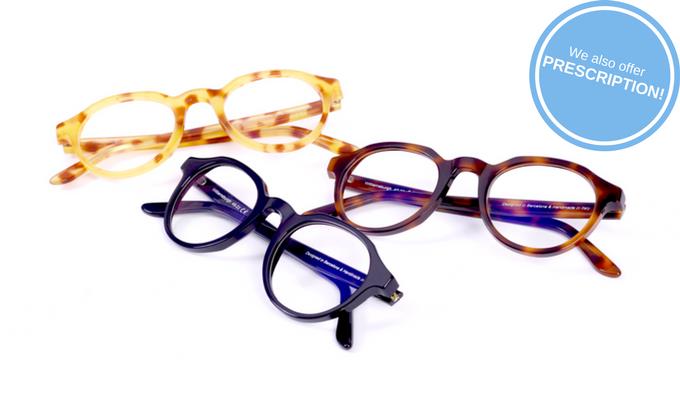 High Quality Blue Protect lenses (prescription & plain) & Italian Mazzucchelli acetate frames