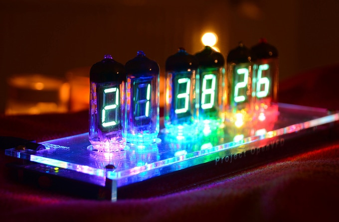 IV-11 VFD Digital Clock based on OpenVFD, 1st generation prototype