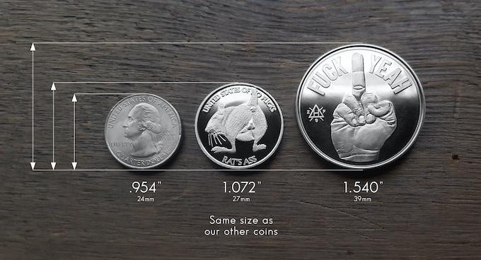 Zfg Fuck Yeah Fuck No Decision Maker Amp Rat S Ass Coins