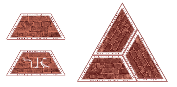Brick Counter (Front, Back, and Combined View)