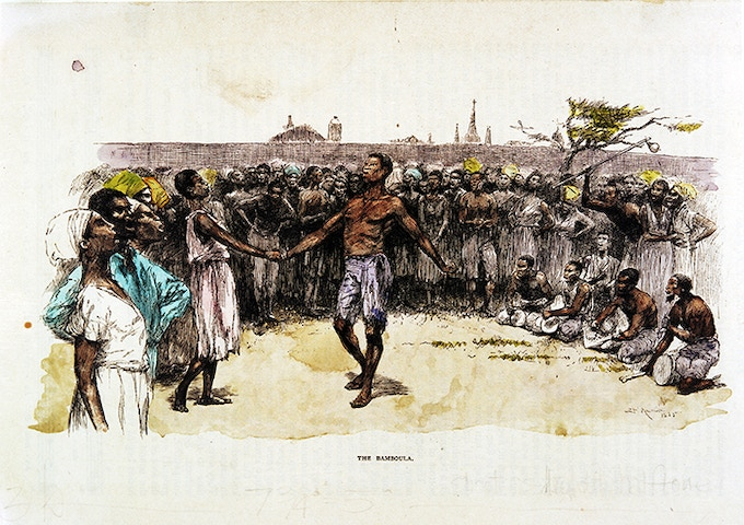 An 1886 depiction of the dances in Congo Square