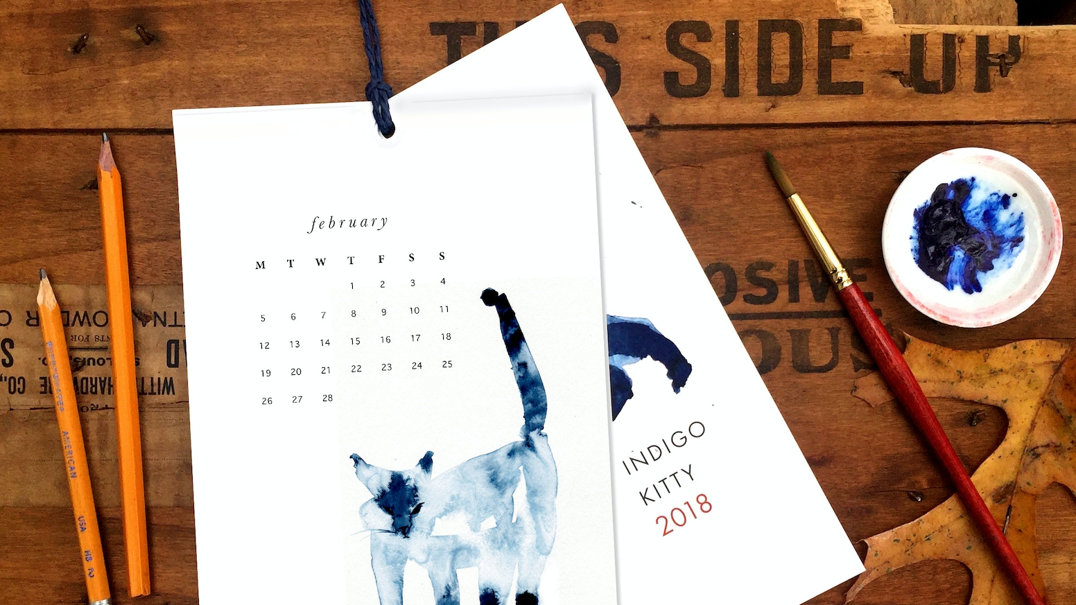 Bring home a beautiful Indigo Kitty Calendar for the holidays, and help inspire watercolor Cat Commissions for next year's edition!