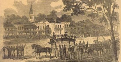 The funeral of Andre Cailloux, the first black man to be given a full military funeral in New Orleans. 1863, in Union-occupied New Orleans.