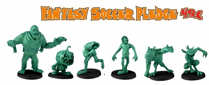 This pledge level contains 1 Mummy, 1 pumpkin mascotte, 1 headless knight. 1 werewolf, 1 ghoul and 1 skeleton, the score marker is still unlocked and you will have it for free..
