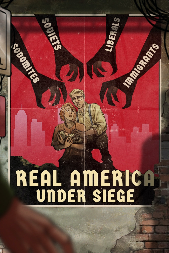 Regime propaganda, McCarthy's vision of an America under siege by the Interior Threat.