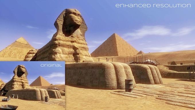 Original resolution vs the new HD resolution