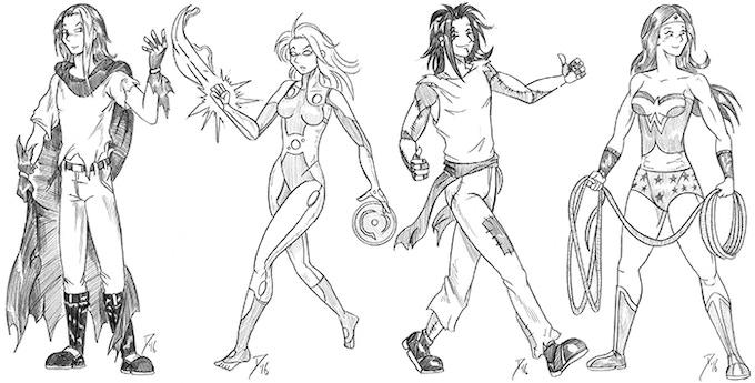 Custom art by Mookie from previous Kickstarters.