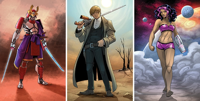 Custom color art by Garth from previous Kickstarters.