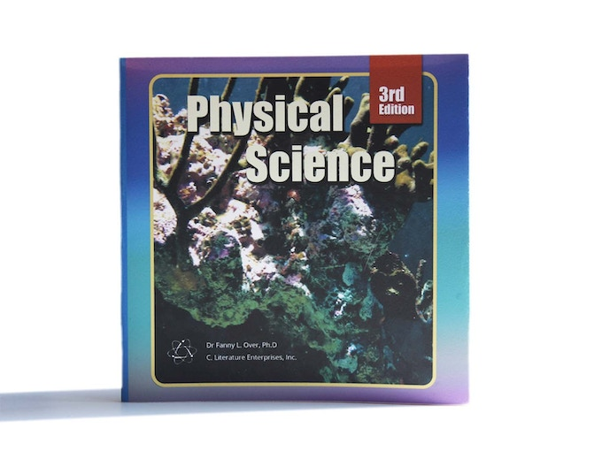 This fake dust jacket disguises Cliterature as a science workbook.