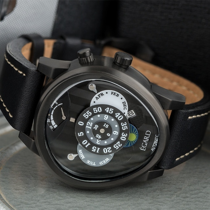 Rush has unparalleled design aspects with special details commemorating Georges St. Pierre's career and designed by Ilan Srulavicz of the Egard Watch Co.