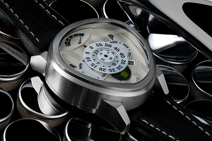 """Rush's curved sapphire leverages the skills learned on William Shatner's """"Passages"""" timepiece in 2013."""