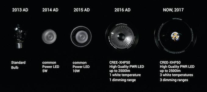 Developmental process of the functional light