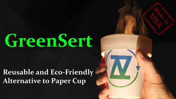GreenSert - Reusable & Eco-Friendly Alternative to Paper Cup