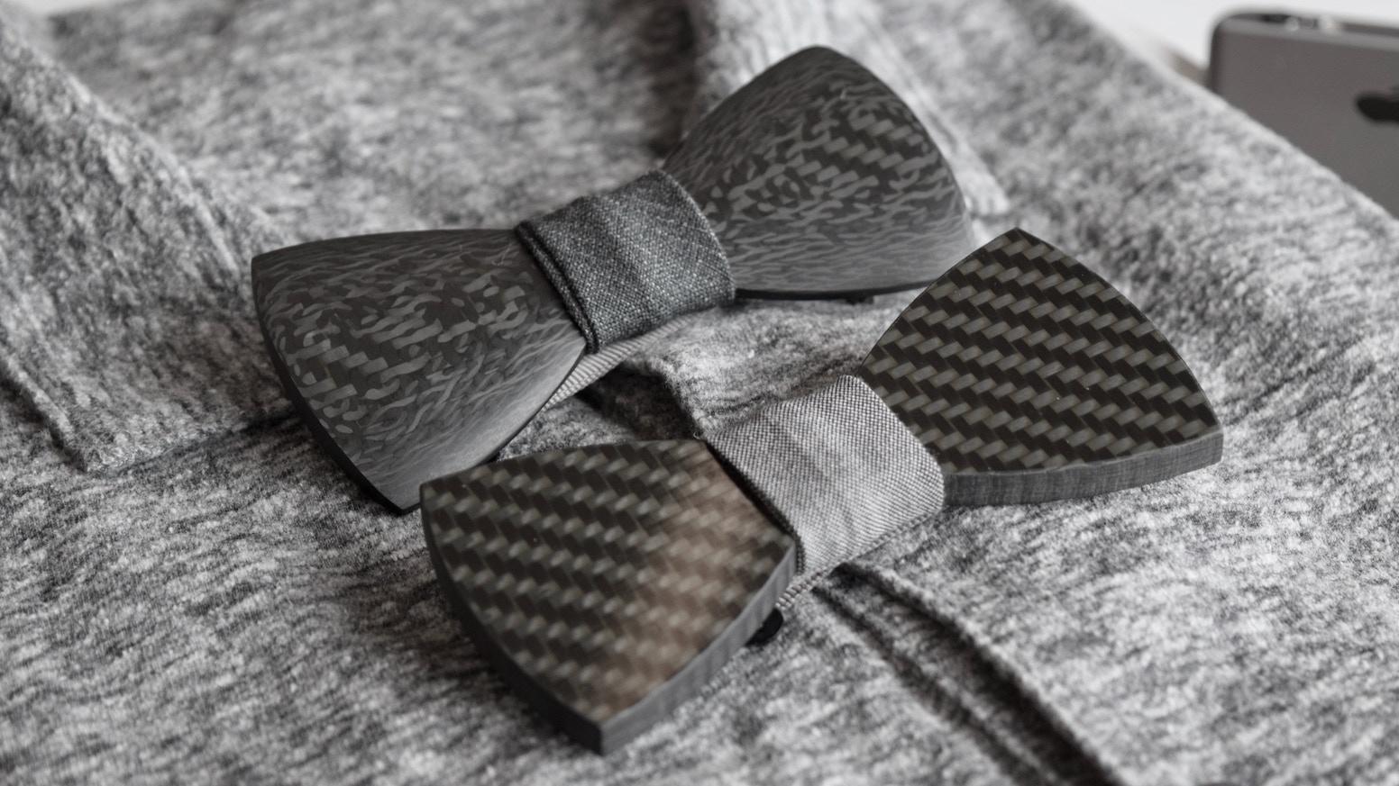 carbon cravat the bow tie made from rockets by paul kaster kickstarter. Black Bedroom Furniture Sets. Home Design Ideas