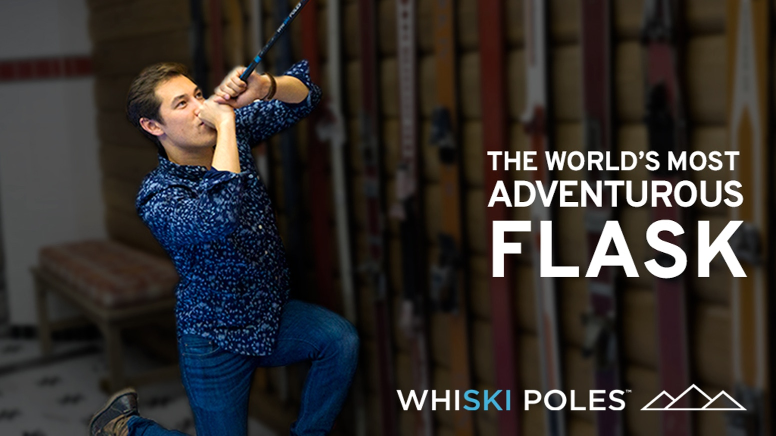 WhiSki Poles = Ski Pole Flasks...High-performance ski poles with an integrated flask.  Enjoy a drink post-ski, or simply skip the slopes and embrace the après ski life!