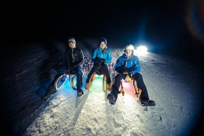 The Team: Bernhard, Tamara & Christian - Inventors & Developers of SLED
