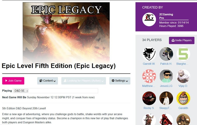 Epic Legacy Core Rulebook - 5th Edition Beyond 20th Level by
