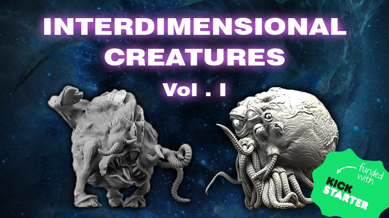 I'm creating the first wave a monster visions from the other dimensions in resin miniatures for collectors.